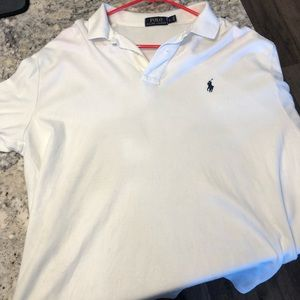 Men's Large White Polo Shirt